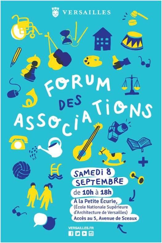 Les Voisins Solidaires au forum des Associations 2018 de Versailles