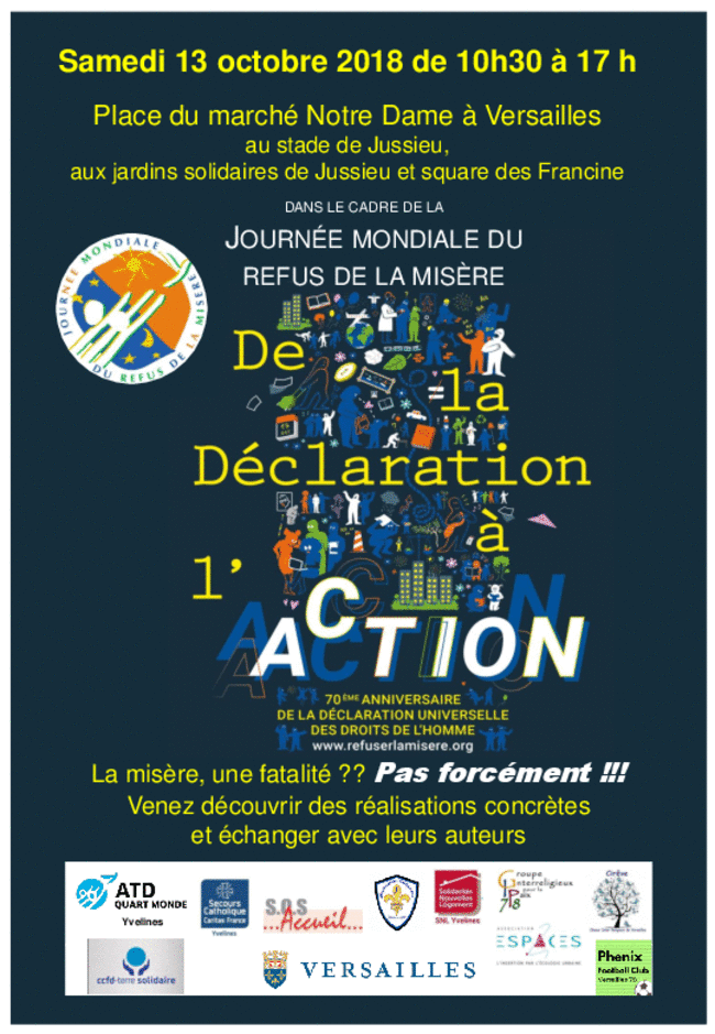 Journée mondiale du refus de la misère 2018 à Versailles